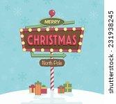 festive merry christmas... | Shutterstock .eps vector #231938245