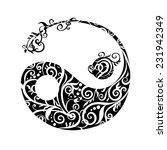 beautiful stylized yin yang in...   Shutterstock .eps vector #231942349