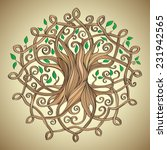 amazing tree of life in the... | Shutterstock .eps vector #231942565