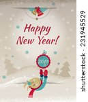2015 happy new year greeting...   Shutterstock .eps vector #231945529