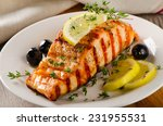 Salmon With Lemon  Olives And ...