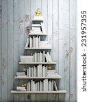 Bookshelf Shaped Christmas Tre...