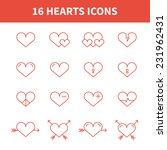 set of heart icons symbol sign... | Shutterstock .eps vector #231962431