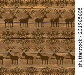 retro christmas seamless... | Shutterstock .eps vector #231965605