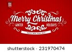 red knitted background with... | Shutterstock .eps vector #231970474