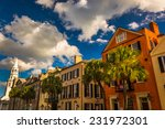 colorful buildings on broad...   Shutterstock . vector #231972301