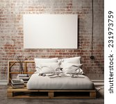 mock up poster with vintage... | Shutterstock . vector #231973759