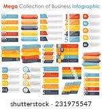 collection of infographic... | Shutterstock .eps vector #231975547