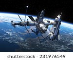 space shuttle and space station ... | Shutterstock . vector #231976549