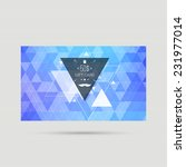 gift card with triangles ... | Shutterstock .eps vector #231977014