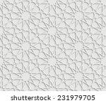 grey geometric star pattern... | Shutterstock . vector #231979705