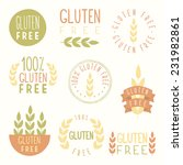 gluten free labels. vector eps...   Shutterstock .eps vector #231982861