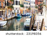 Beautiful and quiet canal in Venice, Italy - stock photo