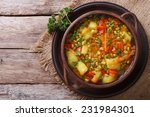 vegetable soup with mungbeen... | Shutterstock . vector #231984301