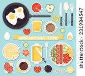 vector icons set with fresh... | Shutterstock .eps vector #231984547