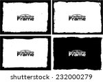 grunge frame set texture  ... | Shutterstock .eps vector #232000279