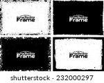 grunge frame set texture  ... | Shutterstock .eps vector #232000297