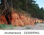 large rocks at the beach   Shutterstock . vector #232005961