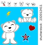 cute polar bear baby cartoon... | Shutterstock .eps vector #232012411