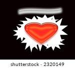Sweetheart Illustration Blank Background - stock photo