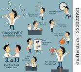 set of successful businessman... | Shutterstock .eps vector #232023931