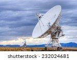 radio antenna dishes of the... | Shutterstock . vector #232024681