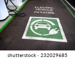 electric vehicle parking space ...   Shutterstock . vector #232029685