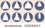 collection of wedding dresses.... | Shutterstock .eps vector #232033417