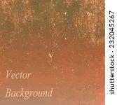 orange vector grunge background ... | Shutterstock .eps vector #232045267