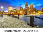Boston, Massachusetts, USA Skyline at Fan Pier. - stock photo