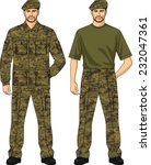 suit summer camouflage for the... | Shutterstock .eps vector #232047361