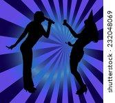 vector silhouette women dancing ... | Shutterstock .eps vector #232048069
