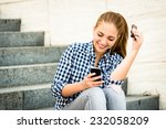 Teenager   Young Woman Eating...