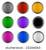 colorful  buttons | Shutterstock . vector #23206063