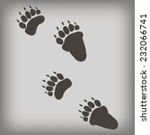 Bear Footprint. Vector...