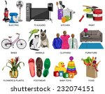shop icons set for department... | Shutterstock .eps vector #232074151