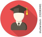 graduate  modern flat icon with ... | Shutterstock .eps vector #232083481