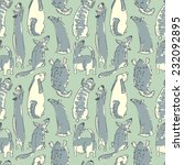 doodle seamless pattern with... | Shutterstock .eps vector #232092895
