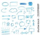 hand drawn design elements | Shutterstock .eps vector #232098889