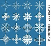 decorative vector snowflakes... | Shutterstock .eps vector #232102489