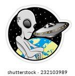 vector illustration. alien.