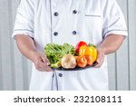 chef holding many types of... | Shutterstock . vector #232108111