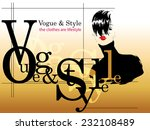 fashion girl in sketch style.... | Shutterstock .eps vector #232108489