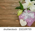 white lily in green bag... | Shutterstock . vector #232109755