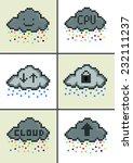 cloud computing pixel art cloud ... | Shutterstock .eps vector #232111237