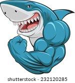 white shark | Shutterstock .eps vector #232120285