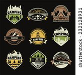 set of retro badges and label... | Shutterstock .eps vector #232128931