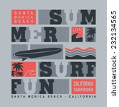 summer surf typography  t shirt ... | Shutterstock .eps vector #232134565