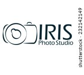 photo studio logo iris