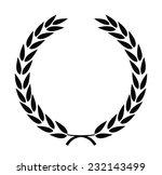 vector black laurel wreaths on... | Shutterstock .eps vector #232143499